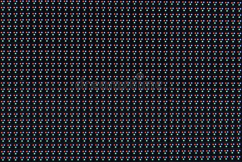 RGB LED screen panel texture stock photo