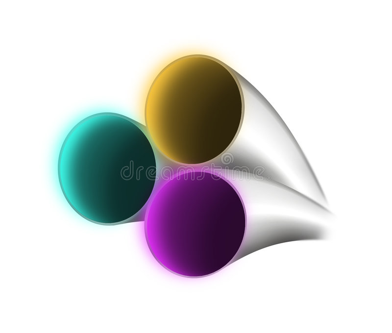 Download RGB optical fiber stock illustration. Image of fiber, color - 406723