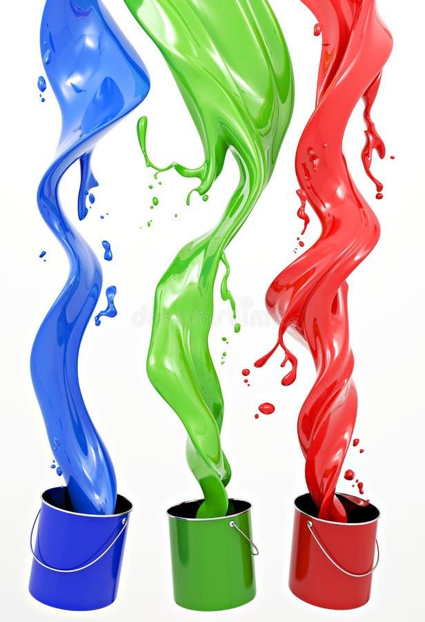 Free RGB Paint Royalty Free Stock Photo - 17727585