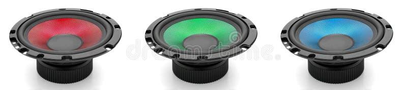 RGB sound royalty free stock photos