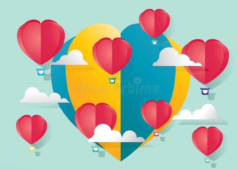 RGB Valentine stock illustratie
