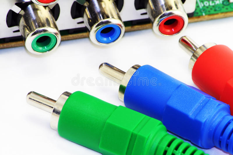 RGB video connectors royalty free stock photo