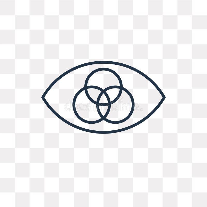 Rgb wektorowa ikona odizolowywająca na przejrzystym tle, liniowy Rgb t ilustracja wektor