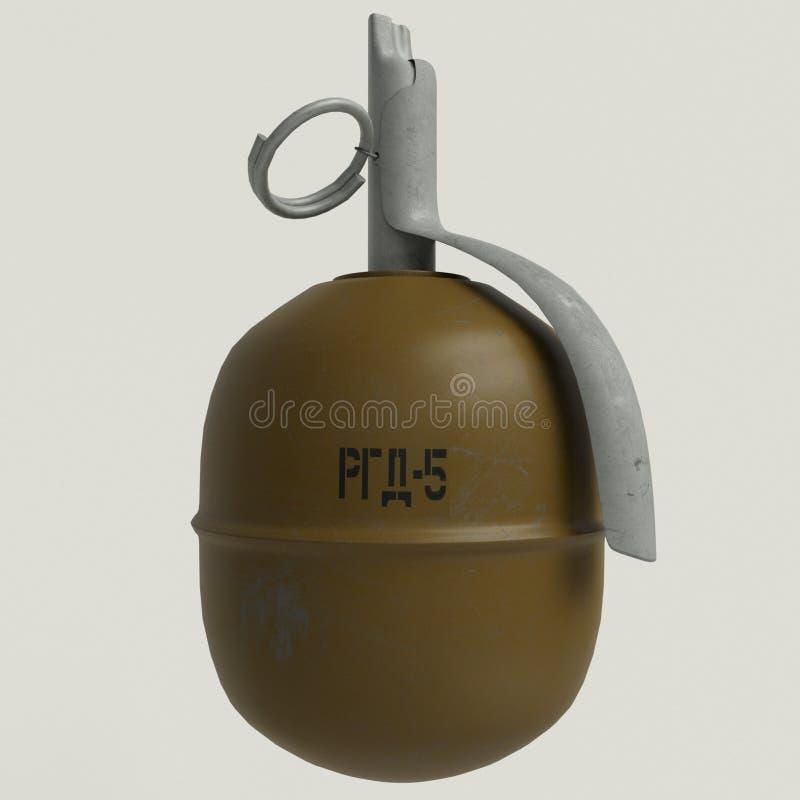 RGD-5 granata ręcznego pilot, modyfikacja Radziecki obrażający granat ręczny - 5 - obrazy stock