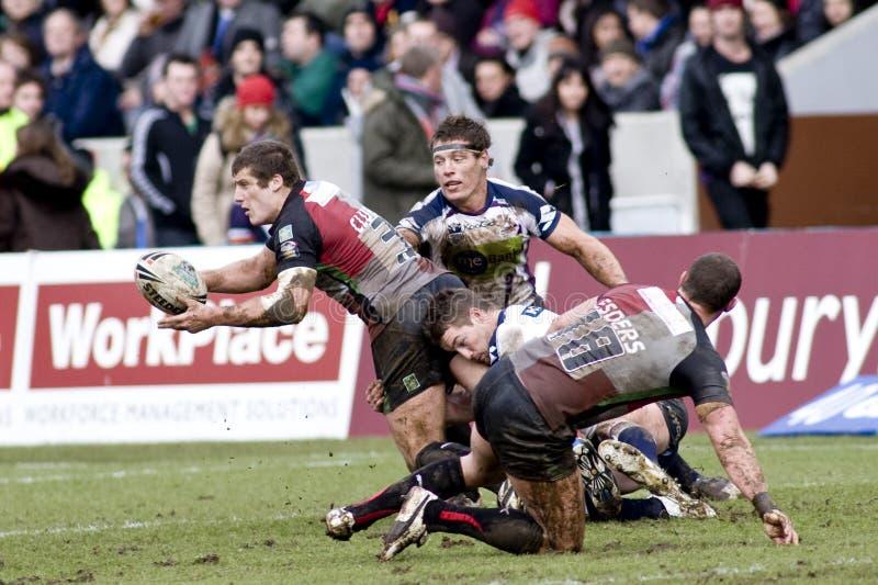 RGL: Harlequins della lega di rugby contro la tempesta di Melbourne immagine stock