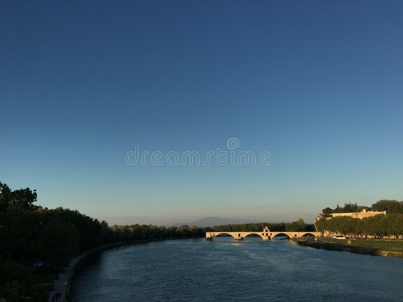 Download Rhône River And Avignon Bridge Stock Image - Image: 90312985