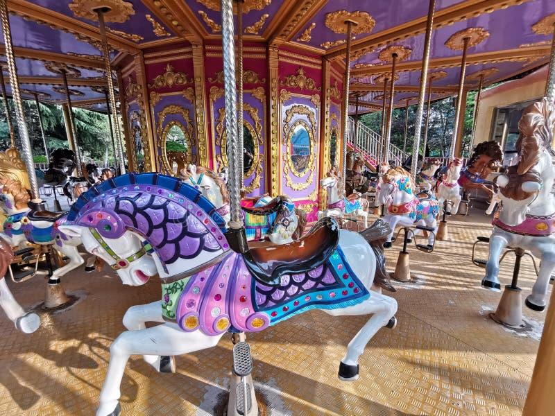 Merry go round @ Taishan Fangte Joy world. Rhdr marry round lunar park sydney australia mrry merry merry-go-round carousel horse horses playground taishan dante stock images