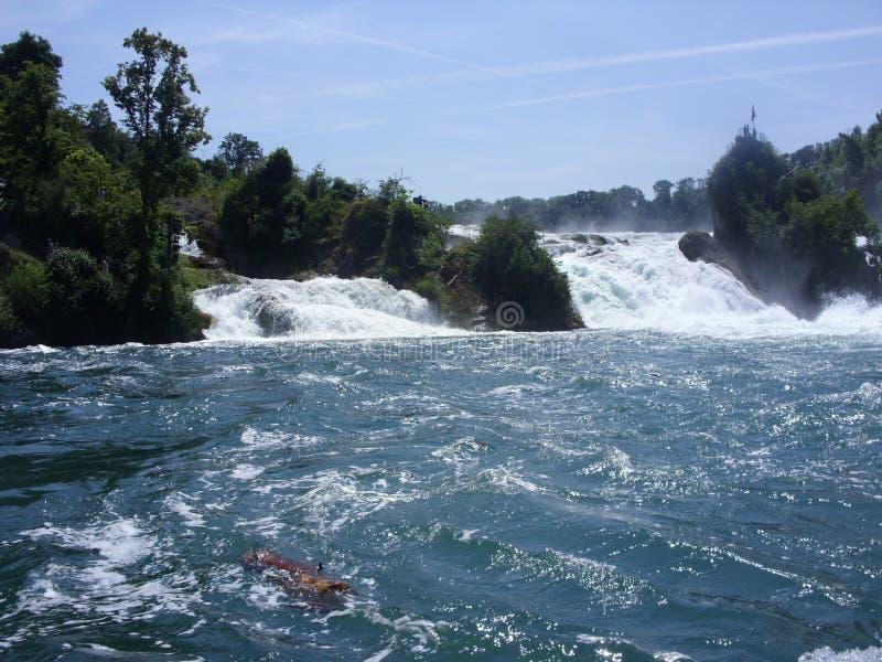 Rhein nedgångar arkivfoton