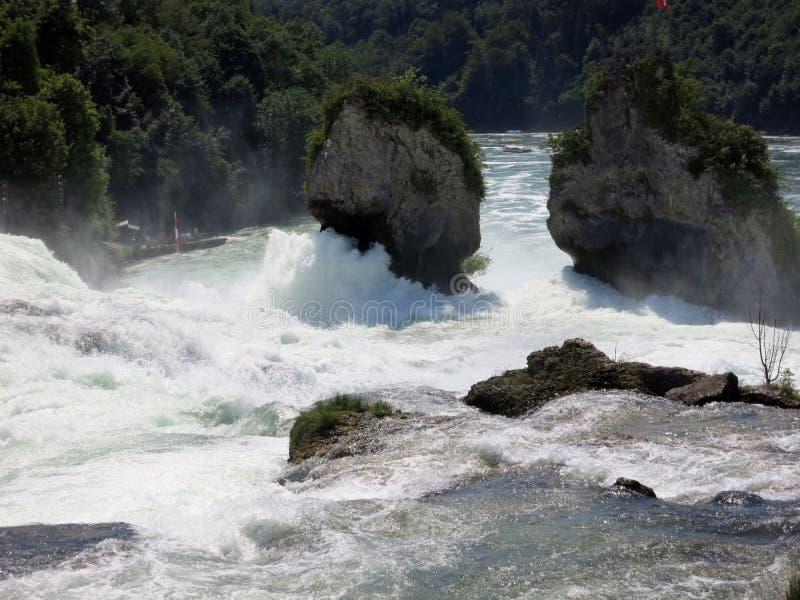 Rhein tombe la Suisse image stock