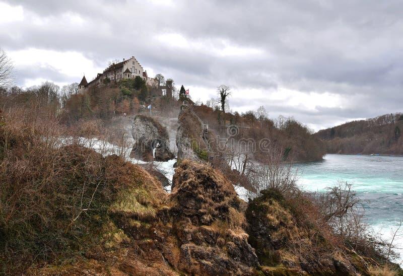 Rheine-Wasserfall stockbild