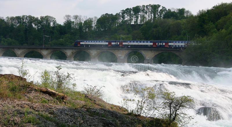 Rheinfall, Швейцария Стоковые Изображения