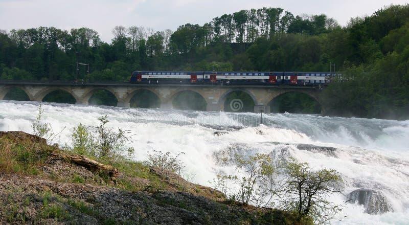 Rheinfall Schweitz Arkivbilder