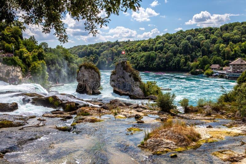 Rheinfall in Svizzera immagine stock libera da diritti