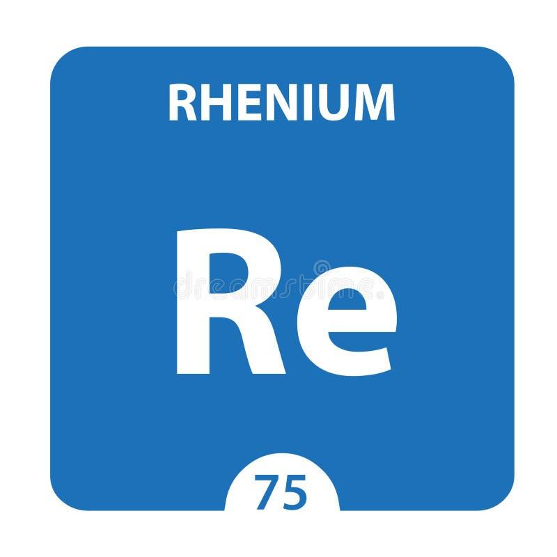 Rhenio Químico 75 elemento del cuadro periódico Fondo De Molécula Y Comunicación Rhenium Chemical Re, laboratorio y ciencia ilustración del vector