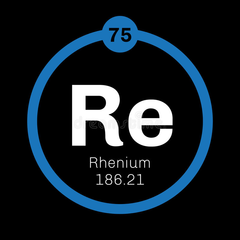 Rhenium chemisch element vector illustratie