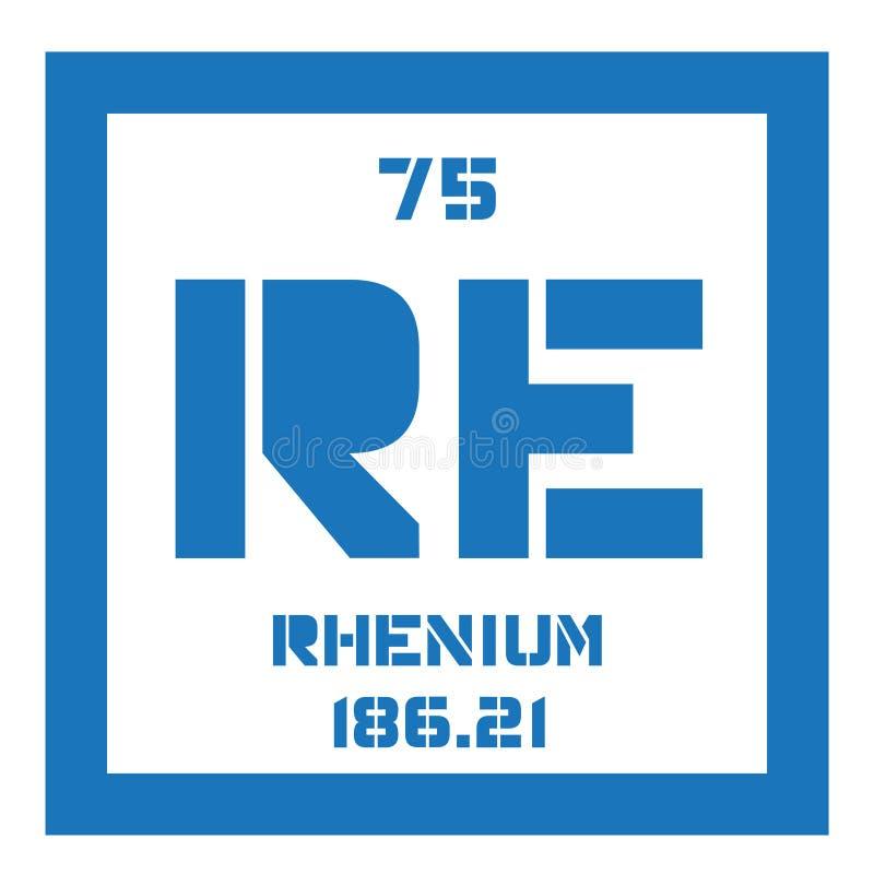 Rhenium chemisch element royalty-vrije illustratie
