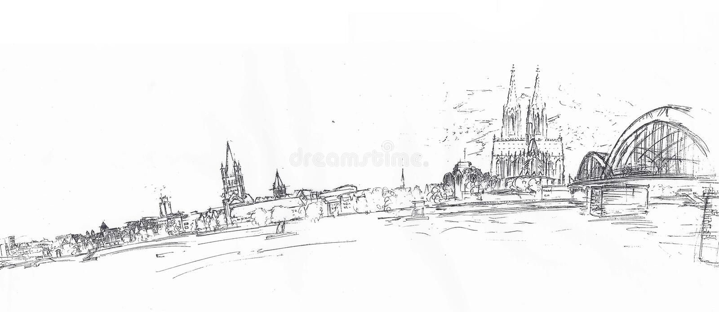 Rhensikt Cologne royaltyfria foton