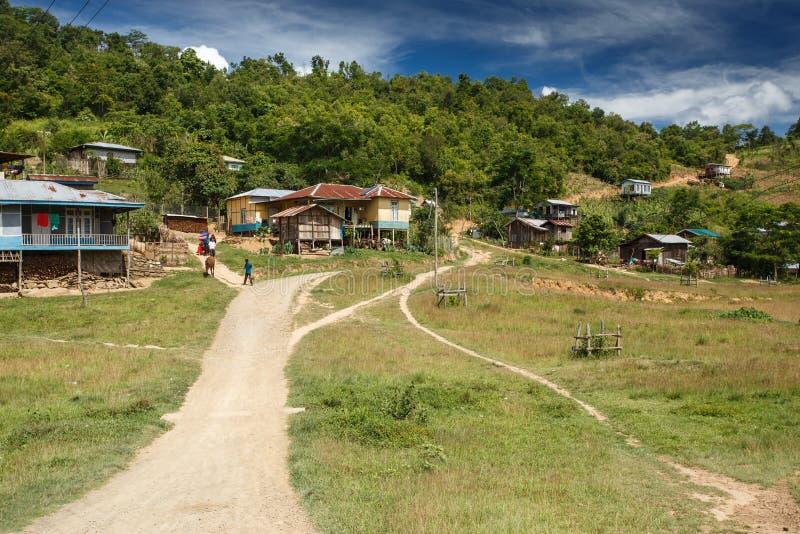 Rhi村庄,缅甸(缅甸) 免版税库存照片