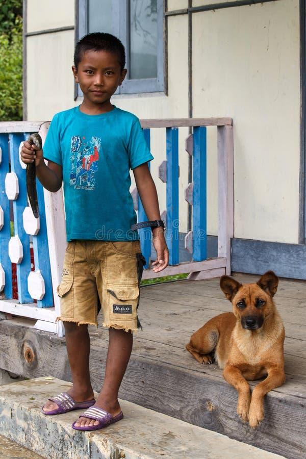 Rhi湖的,缅甸(缅甸)年轻渔夫 库存图片