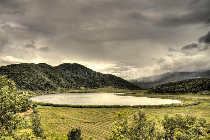 Rhi湖,缅甸(缅甸) 图库摄影