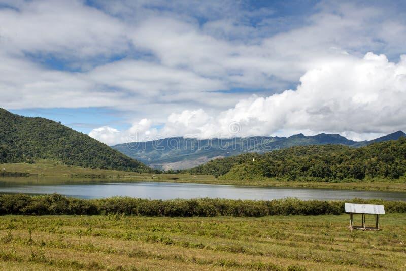 Rhi jezioro, Myanmar (Birma) fotografia royalty free