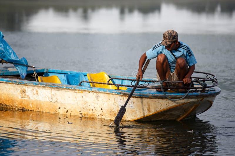 Rhi jezioro, Myanmar (Birma) fotografia stock
