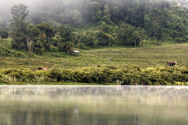Rhi jezioro, Myanmar (Birma) obrazy royalty free