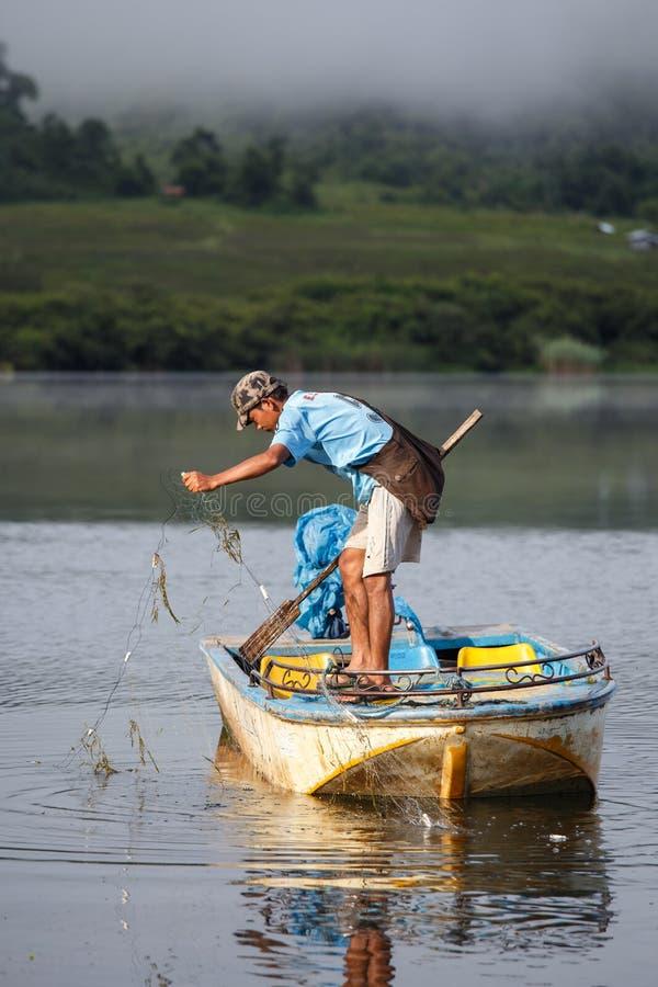 Rhi jezioro, Myanmar (Birma) obraz stock