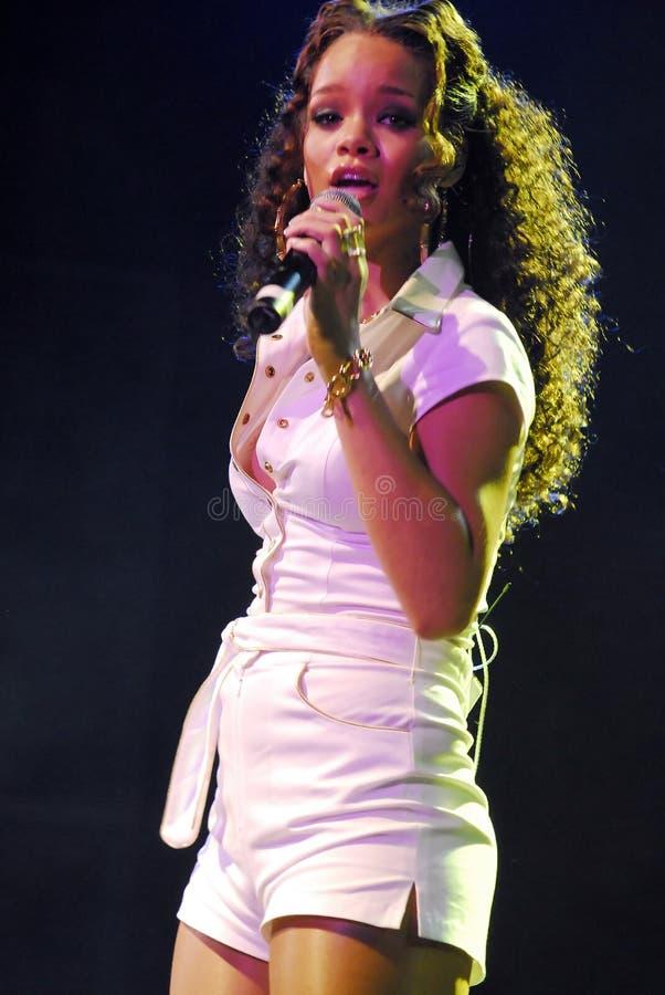 Rhianna performing live