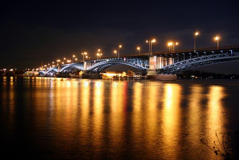 Rhine bridge Theodor-Heuss-Brücke royalty free stock image