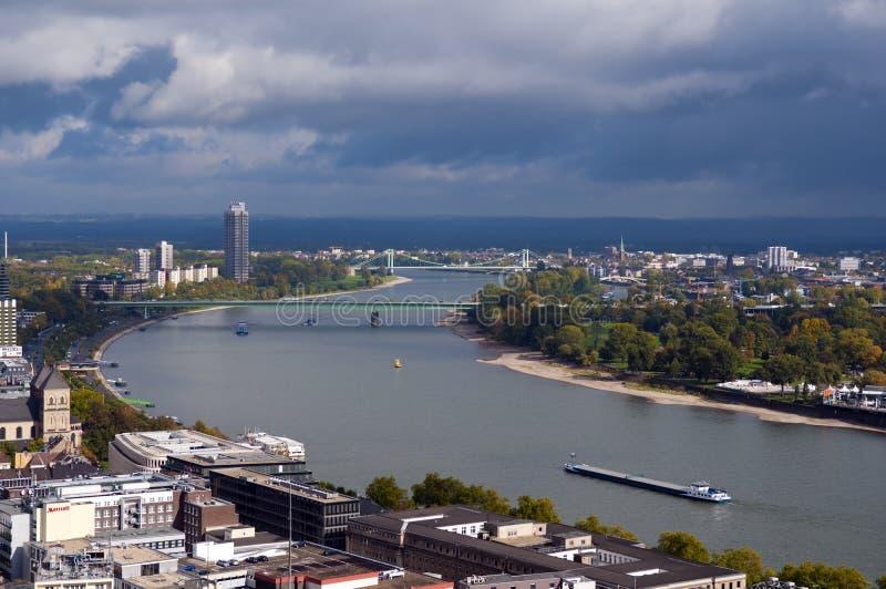 Rhine, Cologne, Germany stock photo