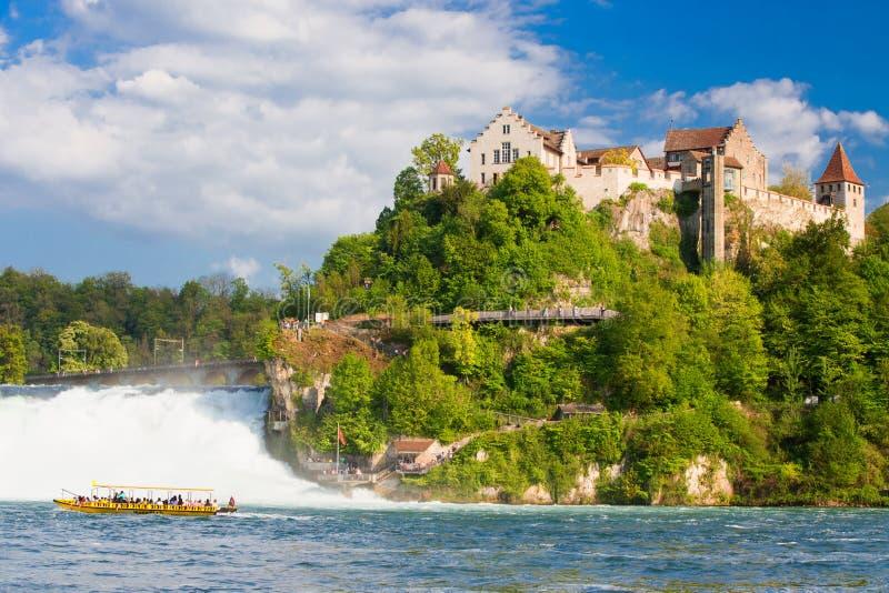 Rhine Falls около Schaffhausen в Швейцарии стоковая фотография