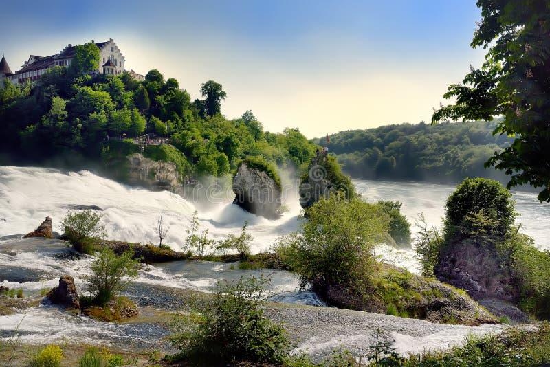Rhine Falls em Suíça fotografia de stock