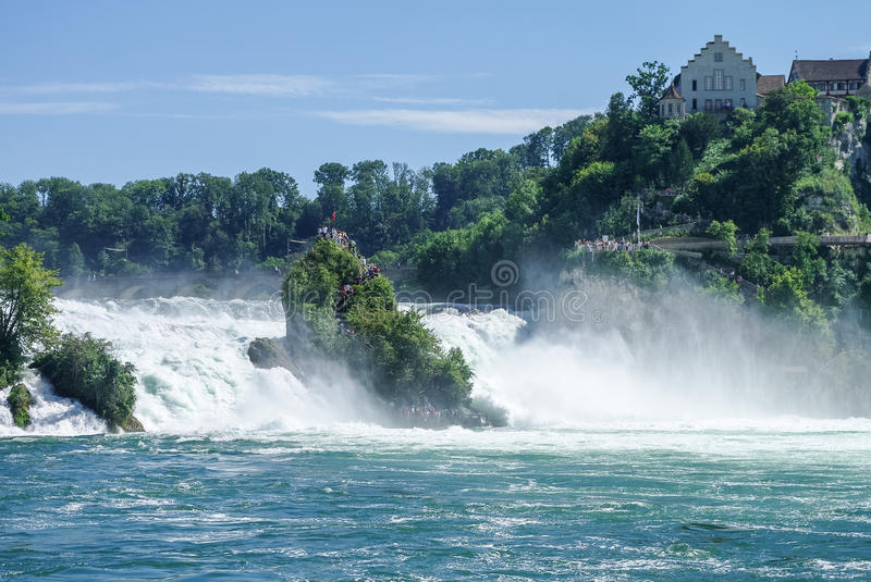The Rhine Falls is the largest waterfall in Europe, Schaffhausen, Switzerland. stock images