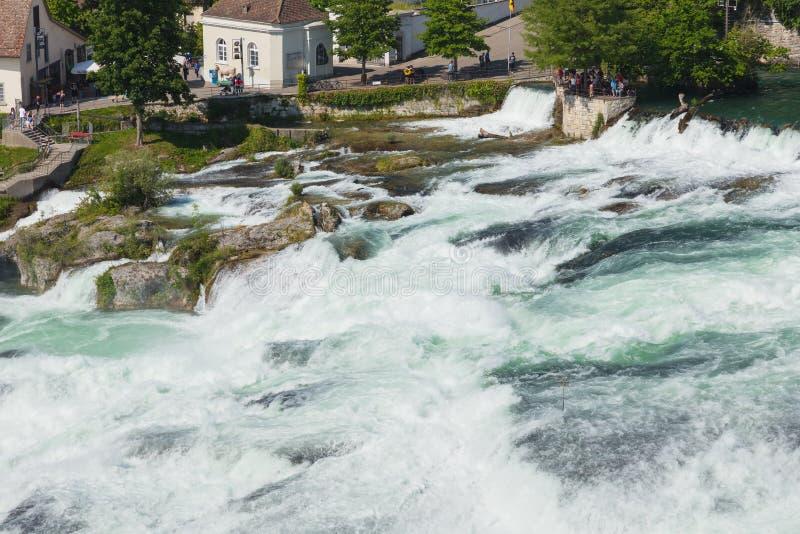 Rhine Falls vattenfall i Schweiz arkivfoto