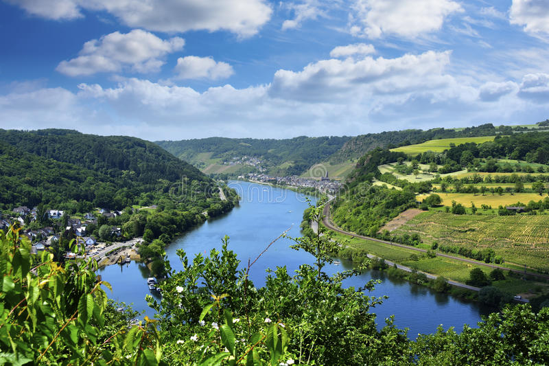 Rhine River. The Rhine River in Germany royalty free stock photography