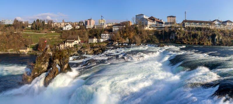 Rhine spada w Schaffhausen, Szwajcaria obrazy stock