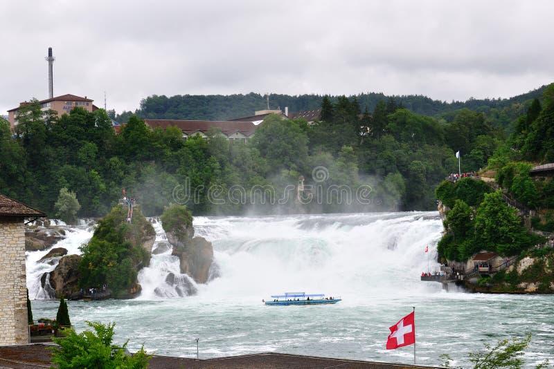 Rhine waterfalls, Switzerland royalty free stock photo