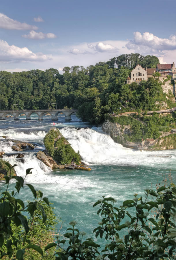 Rhine Falls, the largest Waterfall in Europe royalty free stock image