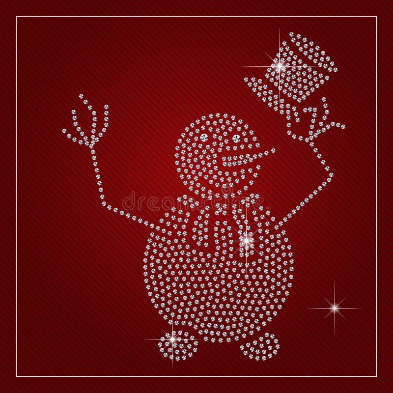 Rhinestone sezonu wakacyjnego szablon ilustracji