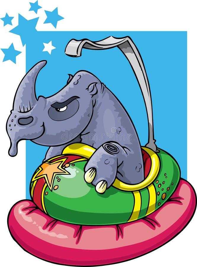 Rhino In Bumper Car Stock Images
