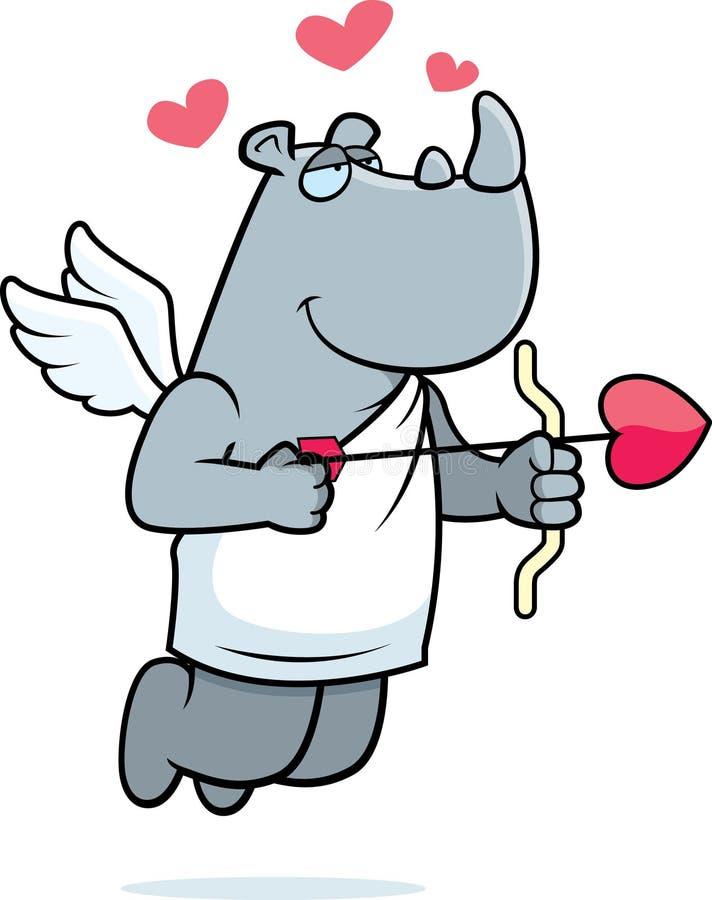 Download Rhino Cupid stock vector. Image of arrow, wings, valentine - 12753276