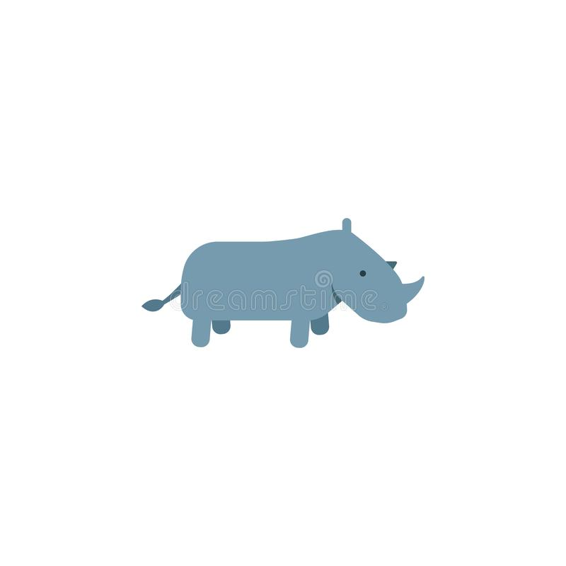 Rhino, zoo, animal icon. Element of color African safari icon. Premium quality graphic design icon. Signs and symbols collection. Icon for websites, web design royalty free illustration