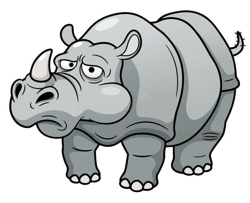 Rhinocéros de bande dessinée illustration libre de droits