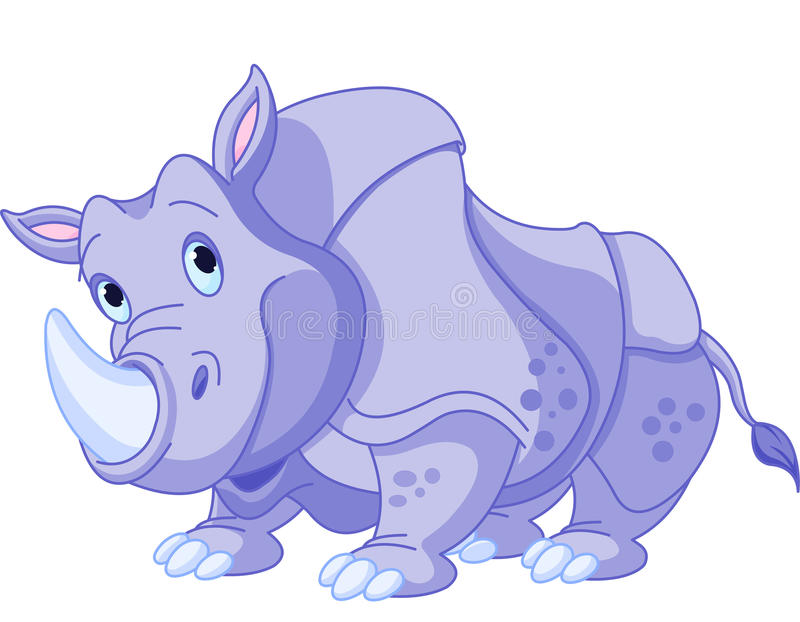 Rhinocéros de bande dessinée illustration stock