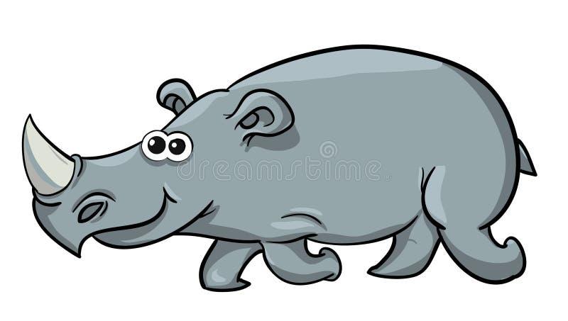 Rhinocéros de bande dessinée de figure illustration stock