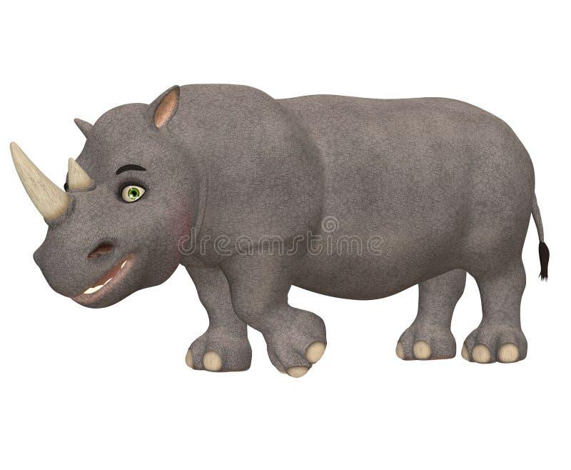 Rhinocéros heureux illustration stock