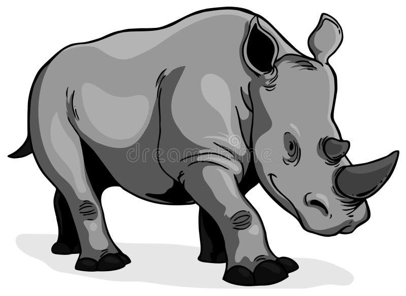 Download Rhinoceros stock vector. Image of african, famous, herbivore - 22098434