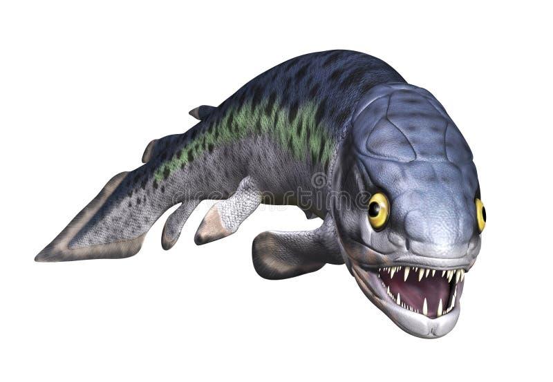 Rhizodus - pescado prehistórico stock de ilustración