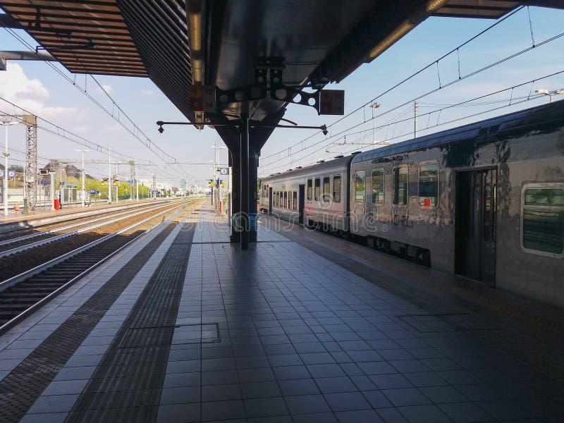 Rho Fiera train station. RHO, ITALY - CIRCA JULY 2017: Rho Fiera railway station royalty free stock photos
